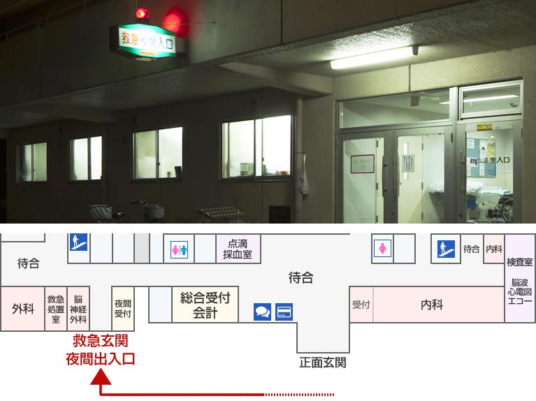 長津田厚生総合病院 夜間(時間外)出入口