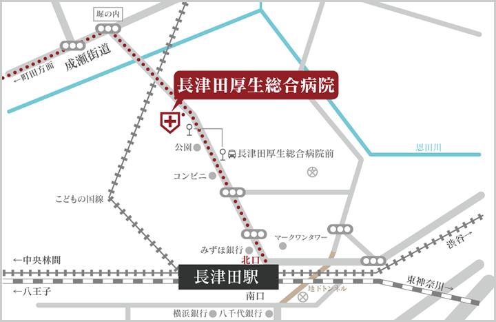 長津田厚生総合病院の周辺地図