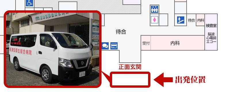 無料送迎車 停車位置 病院