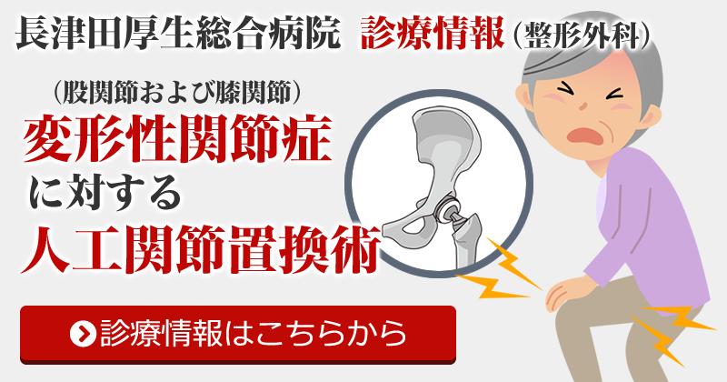 変形性関節症(股関節および膝関節)に対する人工関節置換術(整形外科)