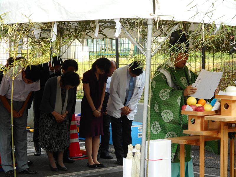 長津田厚生総合病院建替「安全祈願祭」(2018年7月18日)