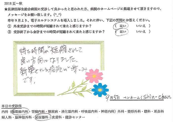患者様の声・Shin-Chan 様(循環器内科/泌尿器科)