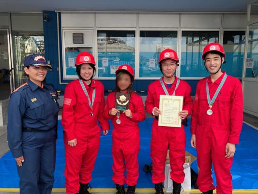 第44回緑区自衛消防隊操法技術訓練会屋内消火栓操法Ⅱ(男性・男女混成)の部